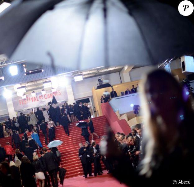 La pluie s'est invitée au Festival de Cannes 2013