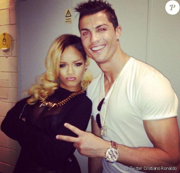 Rihanna et Cristiano Ronaldo après un concert à Lisbonne le 28 mai 2013.