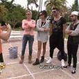 Nabilla, Amélie, Alban et Samir au shooting aquatique dans Les Anges de la télé-réalité 5 le jeudi 30 mai 2013 sur NRJ 12