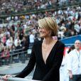 EXCLU : Laeticia Hallyday au Stade de France avant le concert de Johnny Hallyday, le 17 juin 2012.
