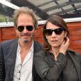Christopher Thompson et sa femme Géraldine Pailhasà Roland-Garros le 1er juin 2013.