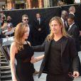 Angelina Jolie et Brad Pitt pendant la première mondiale de World War Z, à l'Empire Leicester Square, Londres, le 2 juin 2013.