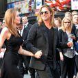Angelina Jolie, Brad Pitt lors de la première mondiale de World War Z, à l'Empire Leicester Square, Londres, le 2 juin 2013.