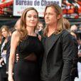 """Angelina Jolie, Brad Pitt - People a la premiere du film """"World War Z"""" a Londres, le 2 juin 2013.  02/06/2013 'World War Z' World Premiere at The Empire Leicester Square.02/06/2013 - Londres"""