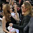 Brad Pitt et Angelina Jolie lors de la première mondiale de World War Z, à l'Empire Leicester Square, Londres, le 2 juin 2013.