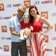 Heather Tom, son mari et leur petit Zane au 7e Kidstock Music and Art Festival au manoir Greystone à Beverly Hills, le 2 juin 2013