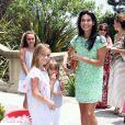 Angie Harmon et ses trois ravissantes filles au 7e Kidstock Music and Art Festival au manoir Greystone à Beverly Hills, le 2 juin 2013