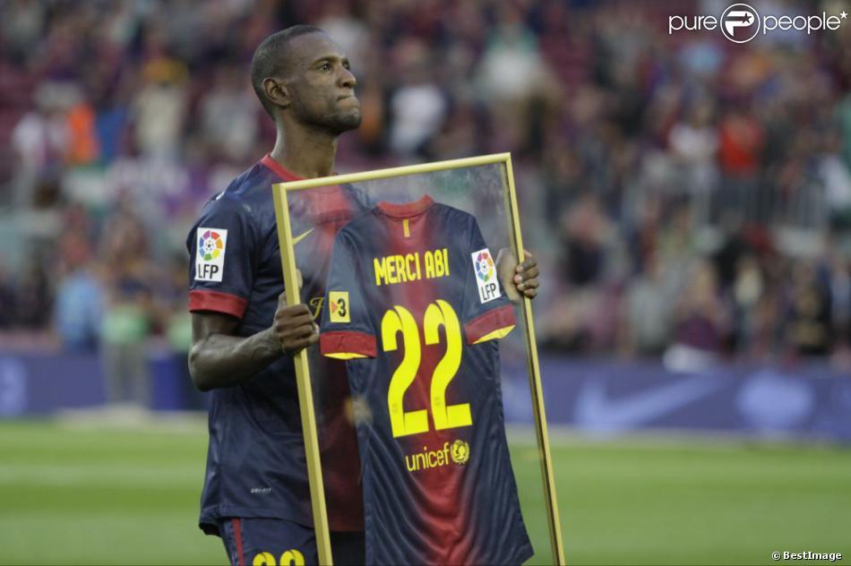 Dernier match plein d'émotions pour Eric Abidal au FC Barcelone le 1er juin 2013 au Camp Nou.