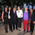 Eléonore de Lacharrière, Yamina Benguigui, Marc Ladreit de Lacharrière, Aurélie Filippetti,Jean-Michel Ribes et Christiane Taubira - Anniversaire de la Fondation Culture et Diversité au théâtre du Rond-Point à Paris le 3 juin 2013.