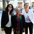 Yamina Benguigui, Christiane Taubira et Aurélie Filippetti - Anniversaire de la Fondation Culture et Diversité au théâtre du Rond-Point à Paris le 3 juin 2013.