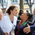 Aurélie Filippetti et Christiane Taubira - Anniversaire de la Fondation Culture et Diversité au théâtre du Rond-Point à Paris le 3 juin 2013.