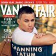 Channing Tatum en couverture de  Vanity Fair US , numéro de juillet 2013. Pippa Middleton y fait ses débuts de chroniqueuse.