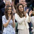 Pippa et Kate Middleton à Wimbledon le 8 juillet 2012