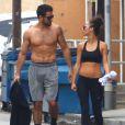 Jesse Metcalfe et sa fiancée Cara Santana sortent de leur cours de fitness à Los Angeles, le 4 juin 2013.