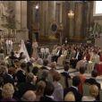 Chris O'Neill et la princesse Madeleine de Suède au moment de l'échange des consentements, lors de leur mariage en la chapelle du palais royal à Stockholm le 8 juin 2013.