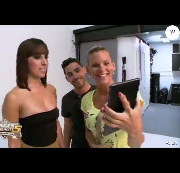 Maude en shooting dans Les Anges de la télé-réalité 5 le mardi 11 juin 2013 sur NRJ 12