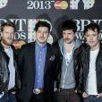 Mumford & Sons aux Brit Awards à Londres, le 20 février 2013.