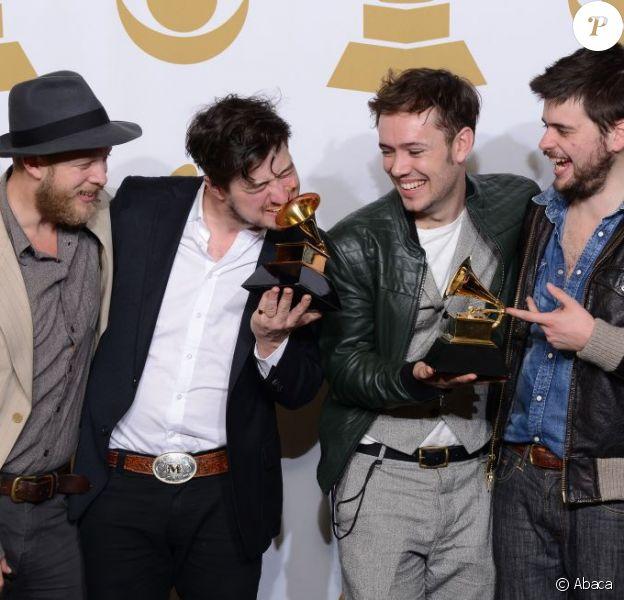 Mumford & Sons aux Grammy Awards à Los Angeles, le 10 février 2013.
