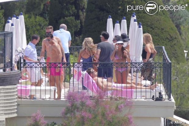 Tamara Ecclestone sur l'une des terrasses du Grand Hôtel du Cap Ferrat le jour de son mariage, le 11 juin 2013