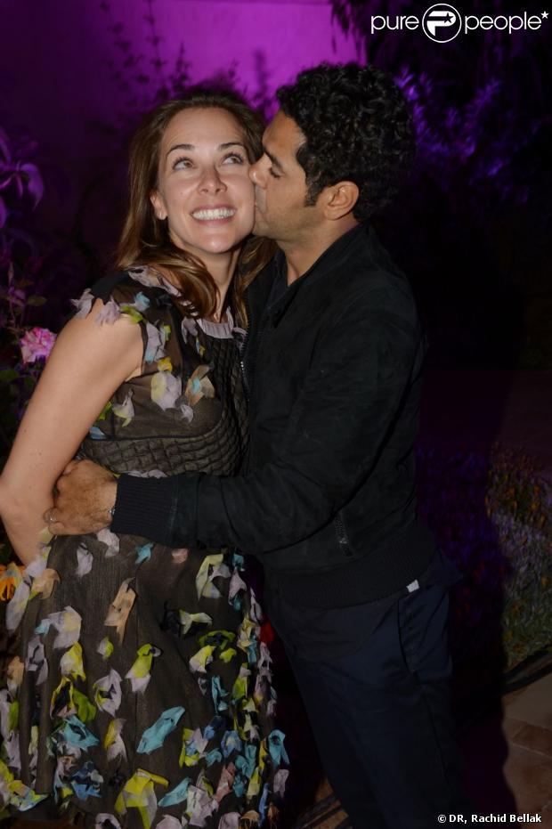 Jamel Debbouze et Mélissa Theuriau à l'after show du festival Marrakech du rire, le 8 juin 2013 à l'Hôtel du golf à Marrakech.