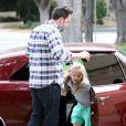 Ben Affleck va chercher sa fille Violet à l'école à Brentwood, le 11 juin 2013.
