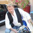 Johnny Hallyday et sa Harley Davidson