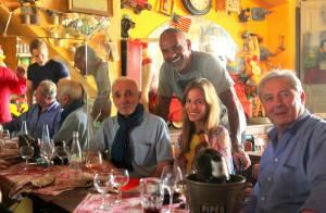 Christian Audigier et sa belle Nathalie: Rencontre amicale avec Charles Aznavour