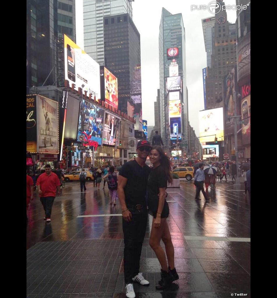 Cristiano Ronaldo et sa compagne Irina Shayk à New York mercredi 19 juin 2013.
