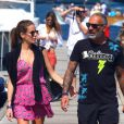 Christian Audigier et sa fiancée Nathalie Sorensen heureux lors d'un week-end romantique à Capri en Italie, le 21 juin 2013.