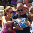Christian Audigier et sa sublime fiancée Nathalie Sorensen heureux lors d'un week-end romantique à Capri en Italie, le 21 juin 2013.