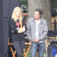 Gwyneth Paltrow et Mark Ruffalo sur le tournage de Thanks For Sharing à New York, le 11 octobre 2011.