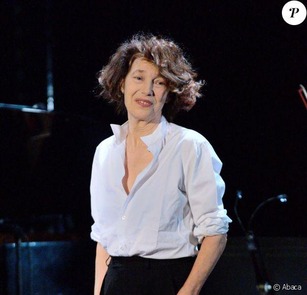 Jane Birkin en concert à La Cigale à Paris, le 26 juin 2013.