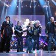 Début de Soirée, Caroline Loeb, Coockie Dinglerlors du concert Stars 80 au Grand Stade Lille Métropole-Pierre Mauroy à Villeneuve-d'Ascqle 29 juin 2013