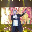 Patrick Hernandezlors du concert Stars 80 au Grand Stade Lille Métropole-Pierre Mauroy à Villeneuve-d'Ascqle 29 juin 2013