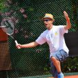 French singer Marc Fichel participates in a celebrity charity tennis tournament to benefit French association 'Enfant Star et Match', in Antibes, southern France on July 10, 2013. Photo by Patrice Masante/ABACAPRESS.COM10/07/2013 - Antibes