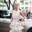 Nicky Hilton arrive à l'hôtel Salomon de Rotschild pour assister au défilé Valentino. Paris, le 3 juillet 2013.