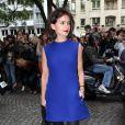 Miroslava Duma arrive à l'hôtel Salomon de Rotschild pour assister au défilé Valentino. Paris, le 3 juillet 2013.
