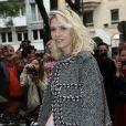 Elena Perminova arrive à l'hôtel Salomon de Rotschild pour assister au défilé Valentino. Paris, le 3 juillet 2013.