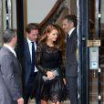 La princesse Madeleine de Suède quitte une boutique Valentino et se rend au Plaza pour dîner. Paris, le 3 juillet 2013.
