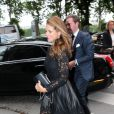 La princesse Madeleine de Suede et son mari Chris O'Neill se rendent dans la boutique Valentino avant d'aller diner au Plaza à Paris, le 3 juillet 2013.