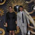 Maria Grazia Chiuri et Pierpaolo Picciolo, directeurs artistiques de Valentino, saluent leurs invités à l'issue de leur défilé haute couture automne-hiver 2013-2014 à l'hôtel Salomon de Rotschild. Paris, le 3 juillet 2013.