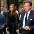 La princesse Madeleine de Suède et son mari Christopher O'Neill arrivent à l'hôtel Salomon de Rotschild pour assister au défilé Valentino. Paris, le 3 juillet 2013.