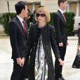 Anna Wintour arrive à l'hôtel Salomon de Rotschild pour assister au défilé Valentino. Paris, le 3 juillet 2013.