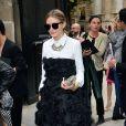 Olivia Palermo arrive à l'hôtel Salomon de Rotschild pour assister au défilé Valentino. Paris, le 3 juillet 2013.