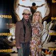 Amber Heard et Johnny Depp à la première de Rhum Express, à Paris, le 8 novembre 2011.