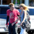 """Gwyneth Paltrow et son mari Chris Martin à Los Angeles le 26 octobre 2012"""