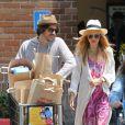 Rachel Zoe et son mari Rodger quitte le Malibu Country Mart. Los Angeles, le 5 juillet 2013.