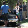 Exclusif - Courteney Cox sur le tournage du film Hello I Must Be Going, en Californie, le 8 juillet 2013.
