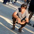 Fabrice Santoro lors du tournoi de pétanque organisé à l'occasion de la 3ème édition du Classic Tennis Tour, sur la place des Lices à Saint-Tropez le 11 juillet 2013