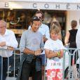 Alexandre Debanne lors du tournoi de pétanque organisé à l'occasion de la 3ème édition du Classic Tennis Tour, sur la place des Lices à Saint-Tropez le 11 juillet 2013